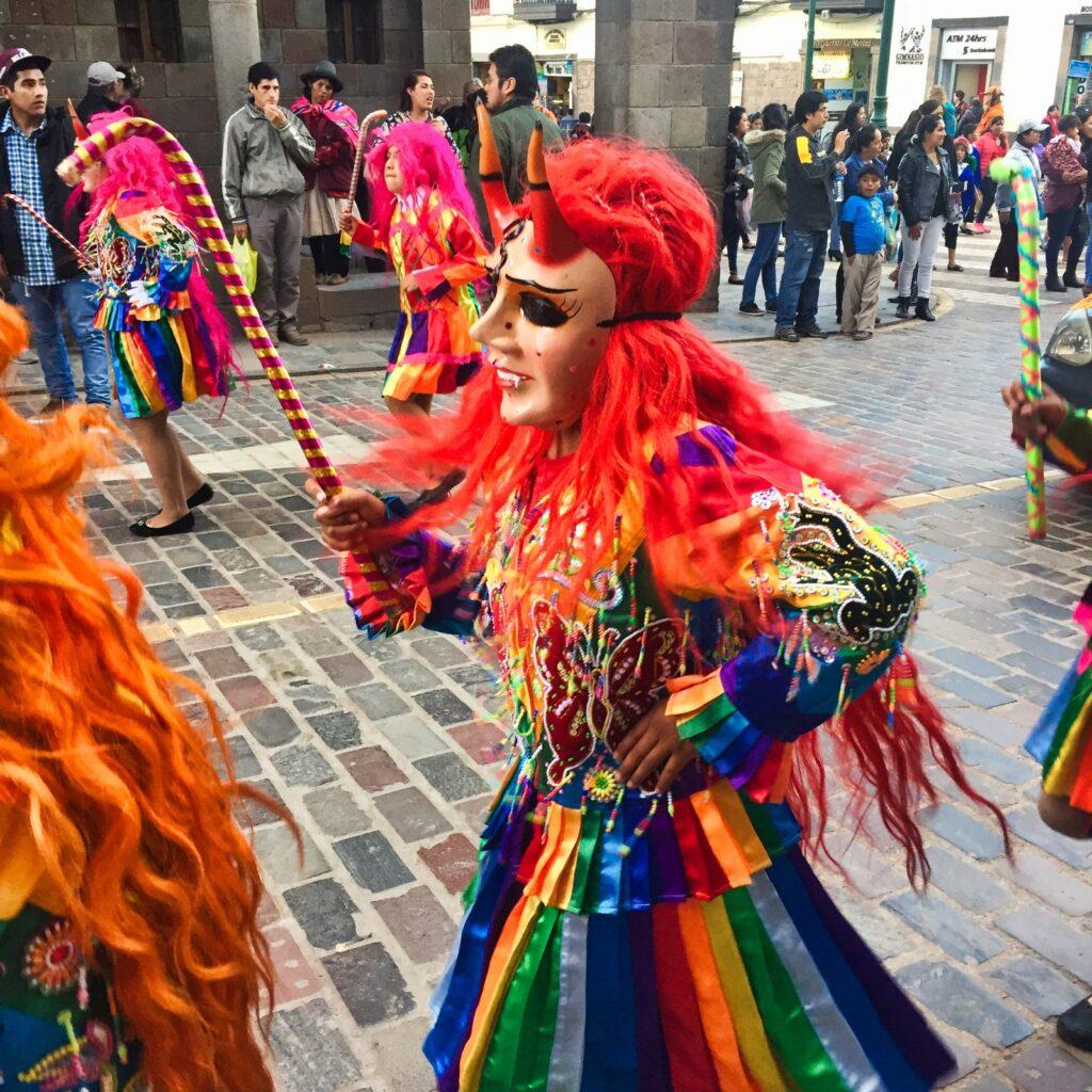 peruvian festival dancer