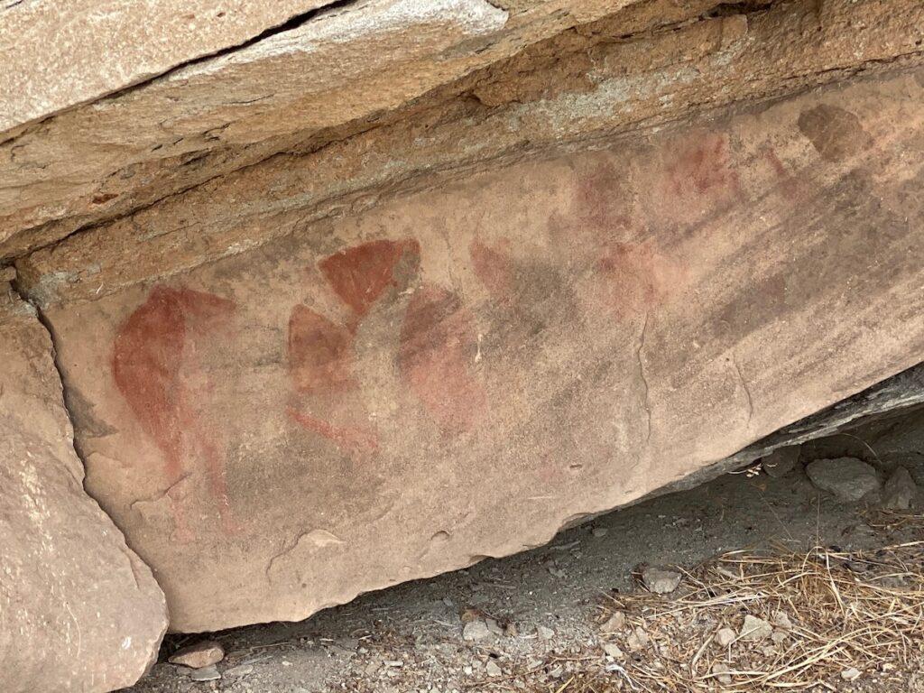 Petroglyphs along the backcountry trails at Palo Duro Canyon.