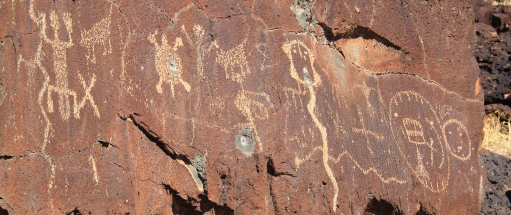 Petroglyphs at Petroglyph National Monument in New Mexico