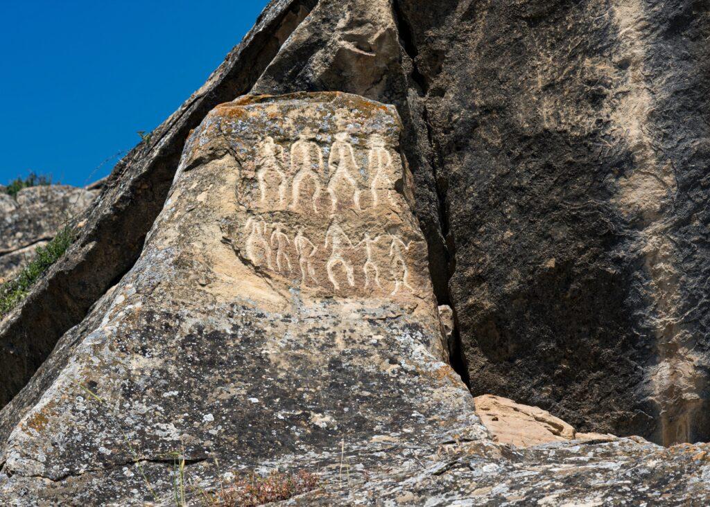Petroglyphs in Gobustan National Park.