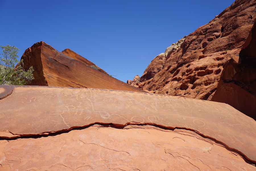 Petroglyphs in Red Rock Canyon.