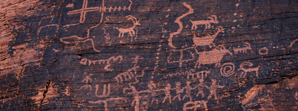 Petroglyphs in the Valley Of Fire State Park in Nevada