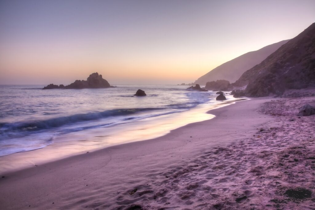 Pfeiffer Beach in California.