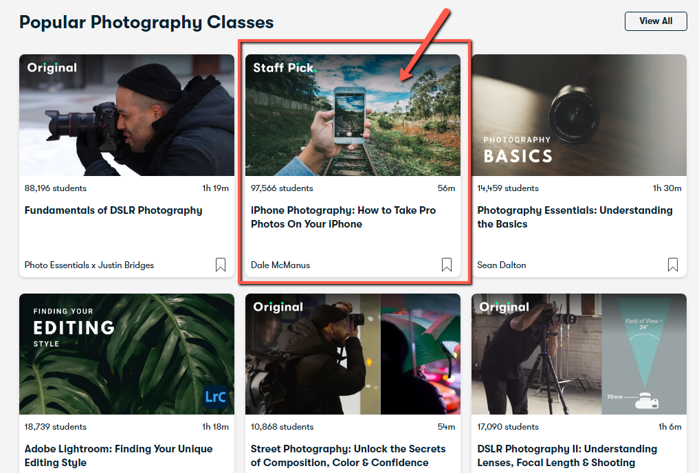 Photography courses, Skillshare.