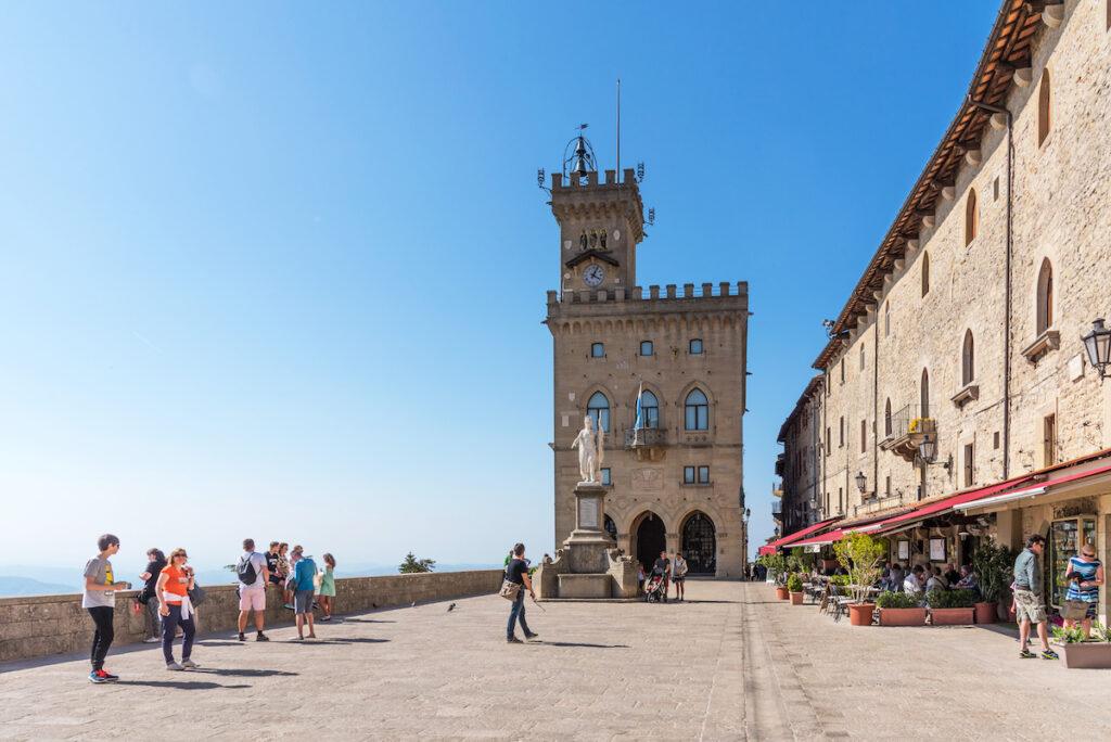 Piazza Delle Liberte in San Marino.