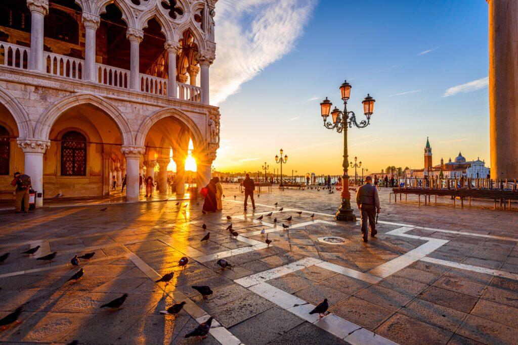 Piazza San Maro in Venice, Italy.