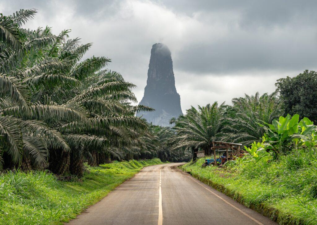 Pico Cão Grande in Sao Tome and Principe.