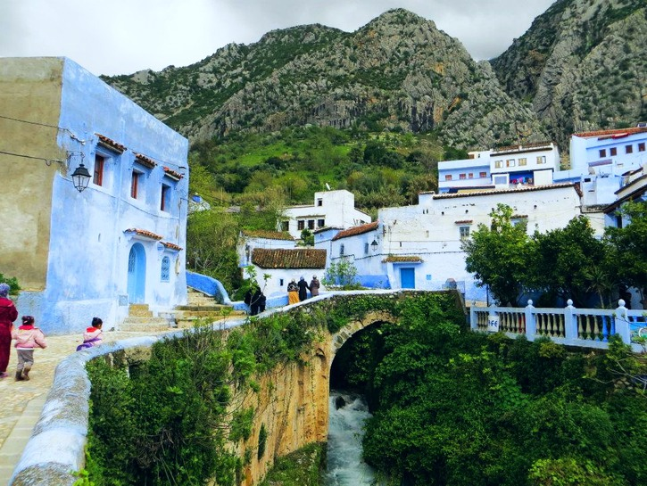 Picturesque views of the Rif Mountains in Chefchaouen