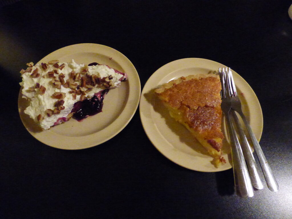 Pie for breakfast at the Cast Iron Grill in Lubbock.