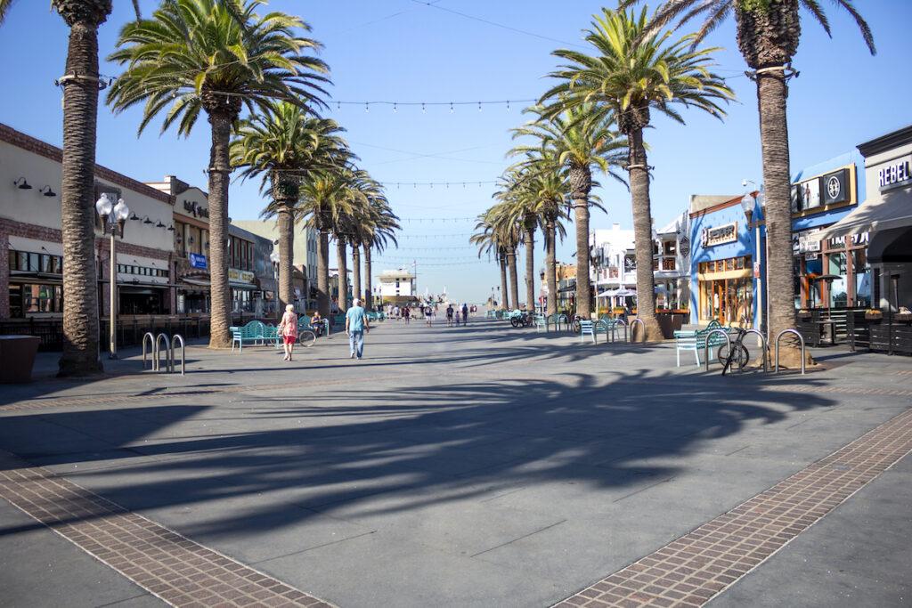 Pier Avenue in Hermosa Beach, California.