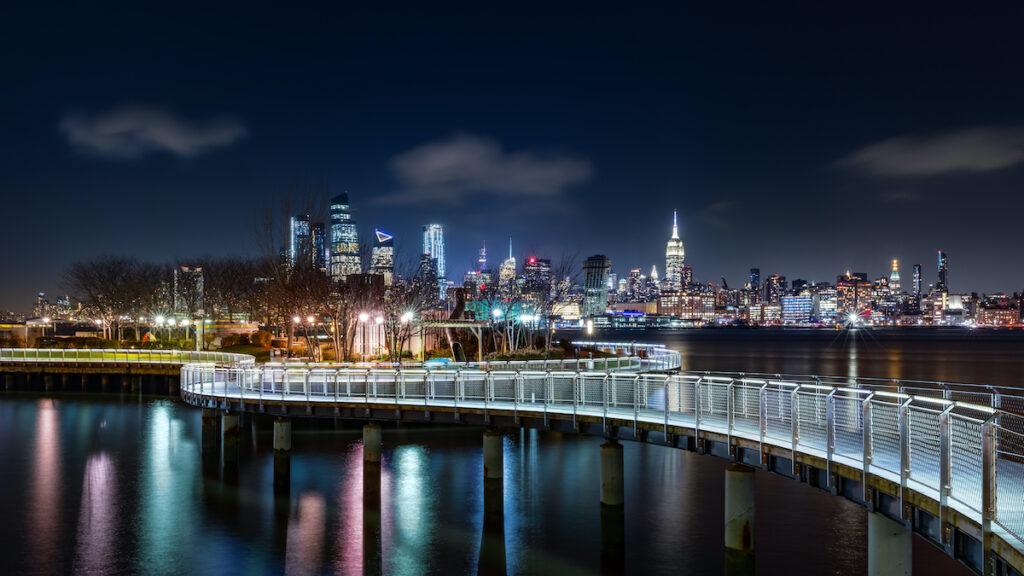 Pier C Park in Hoboken, New Jersey.