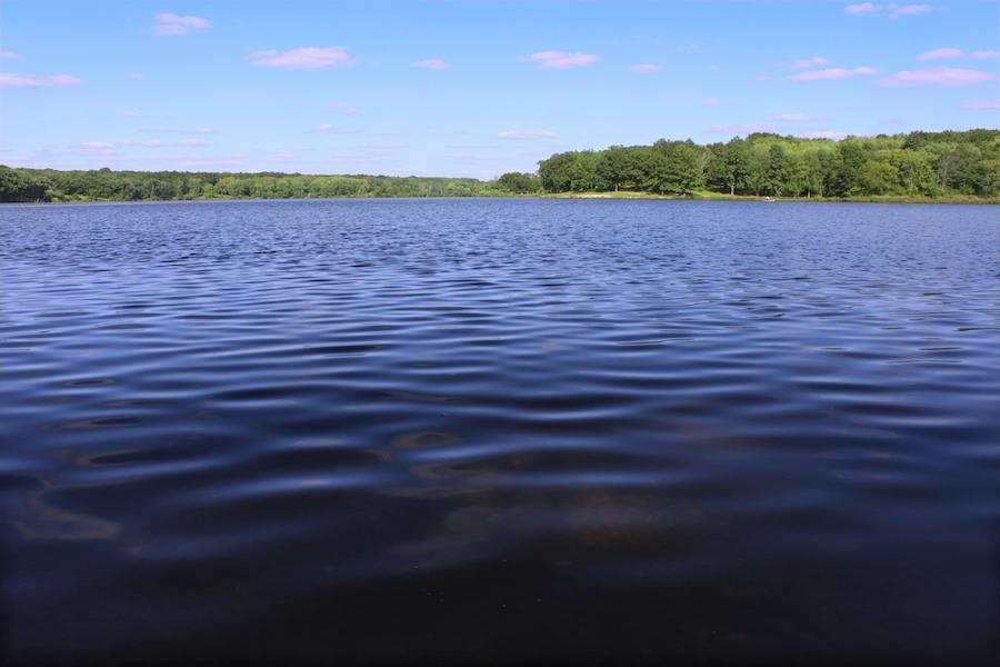 Pierce Lake in Rock Cut State Park, Illinois.