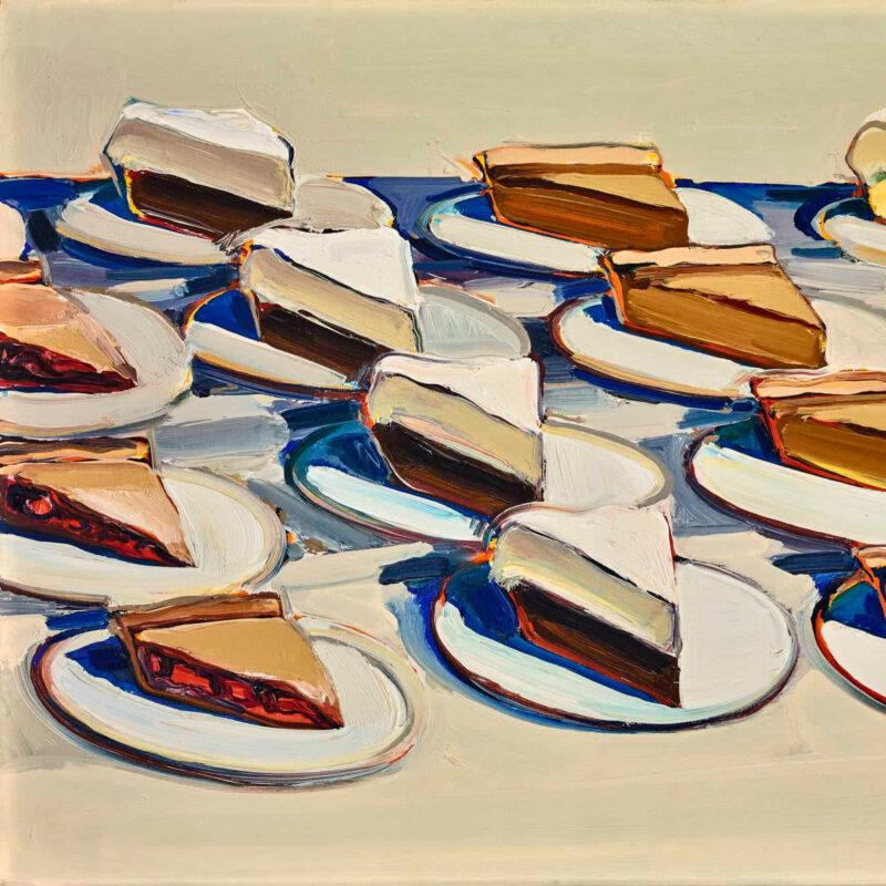 _Pies, Pies, Pies_, a painting by Wayne Thiebaud.