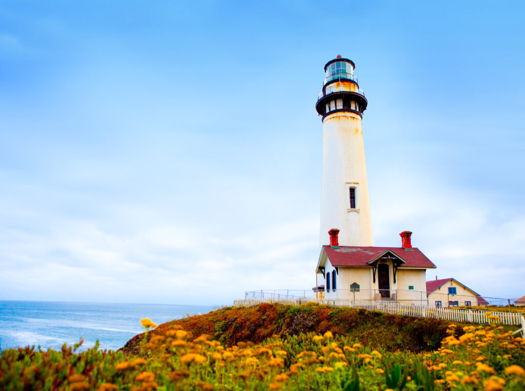 Pigeon Point Lighthouse in Pescadero, California.