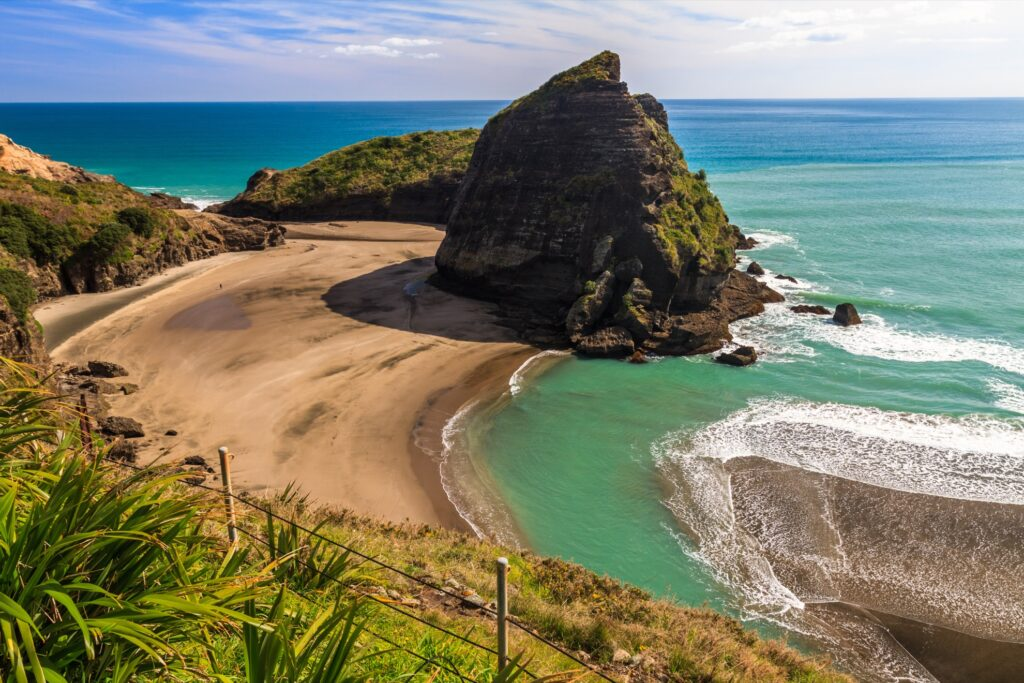 Piha Beach in New Zealand.
