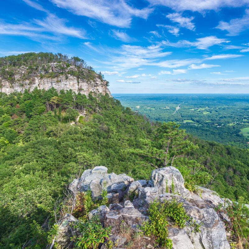 Pilot Mountain State Park in Pinnacle, North Carolina.