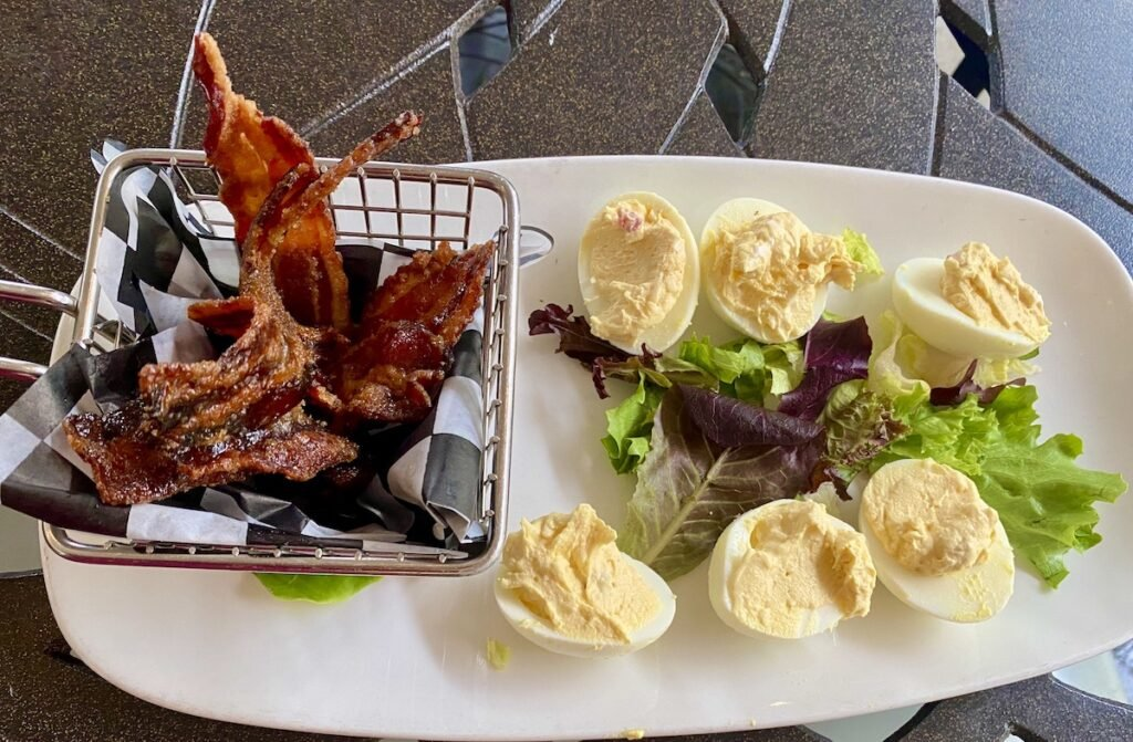 Pimento Cheese Deviled Eggs from Village Tavern.