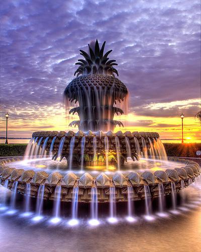 Pineapple Water Fountain, Charleston