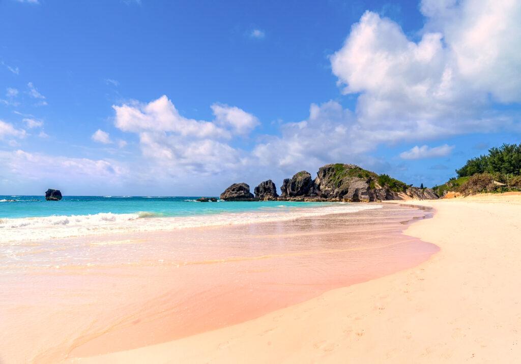 Pink Sand Beach in Bermuda.
