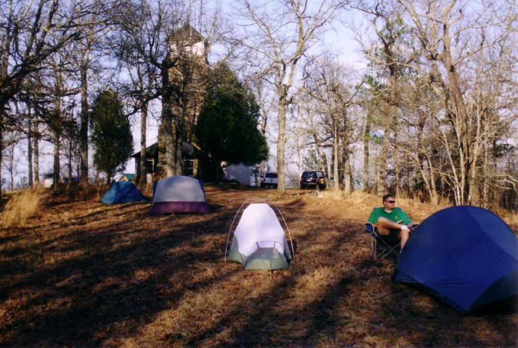 Pitching camp on Flagg Mountain.