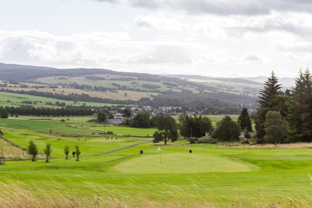 Pitlochry Golf Course in the Scottish Highlands.