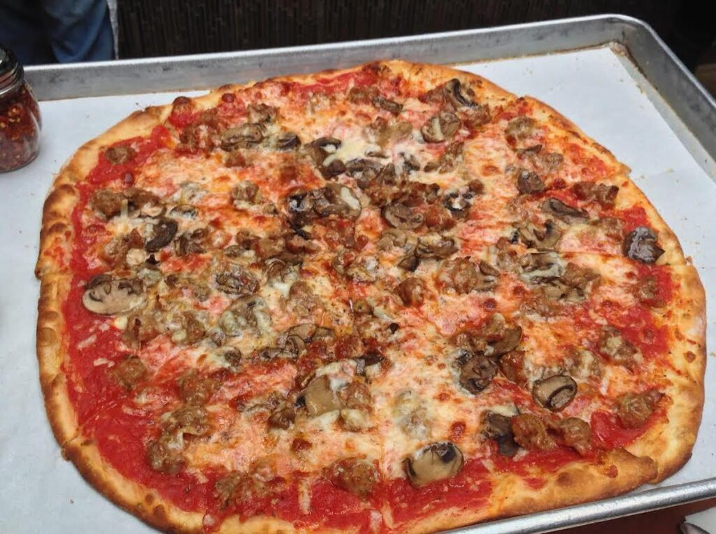 Pizza from Piece Brewery and Pizzeria in Chicago.