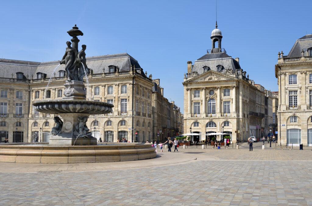Place de la Bourse in Bordeaux.