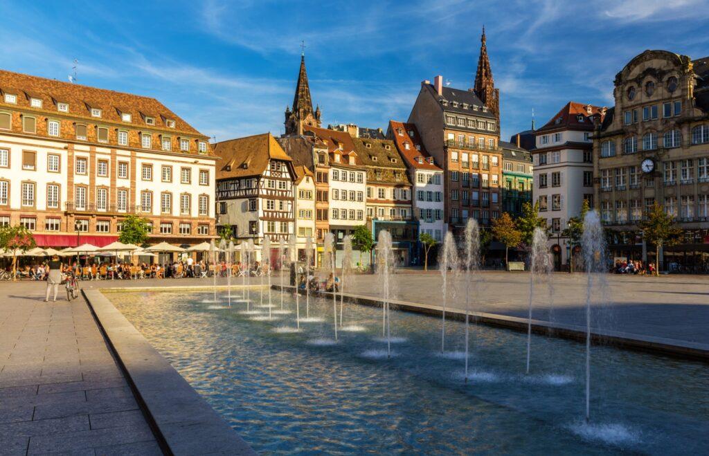 Place Kleber, the main market square in Strasbourg.