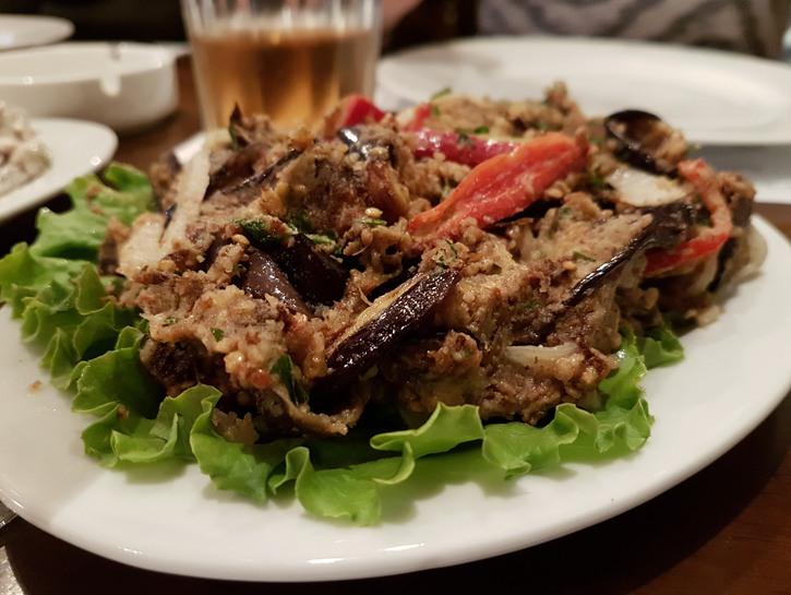 Plate of Georgian food, Tbilisi