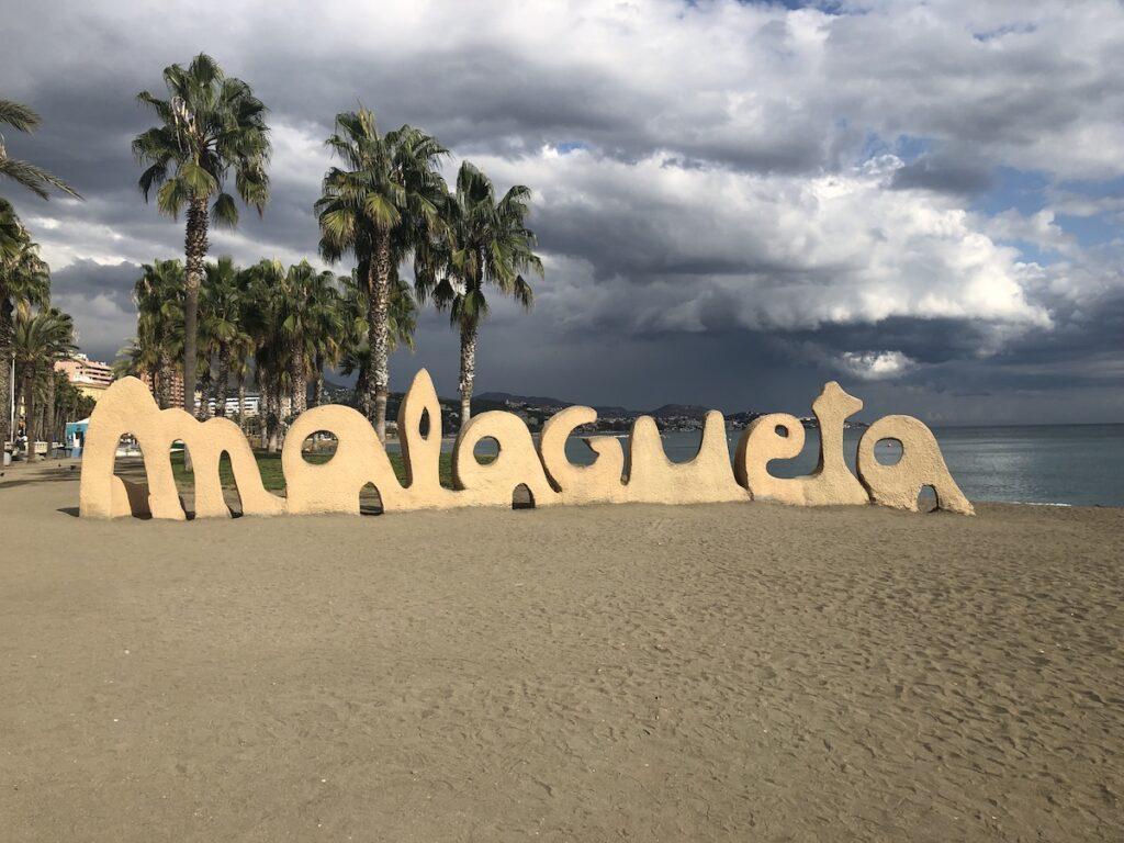 Playa de la Malagueta, Malaga, Spain.