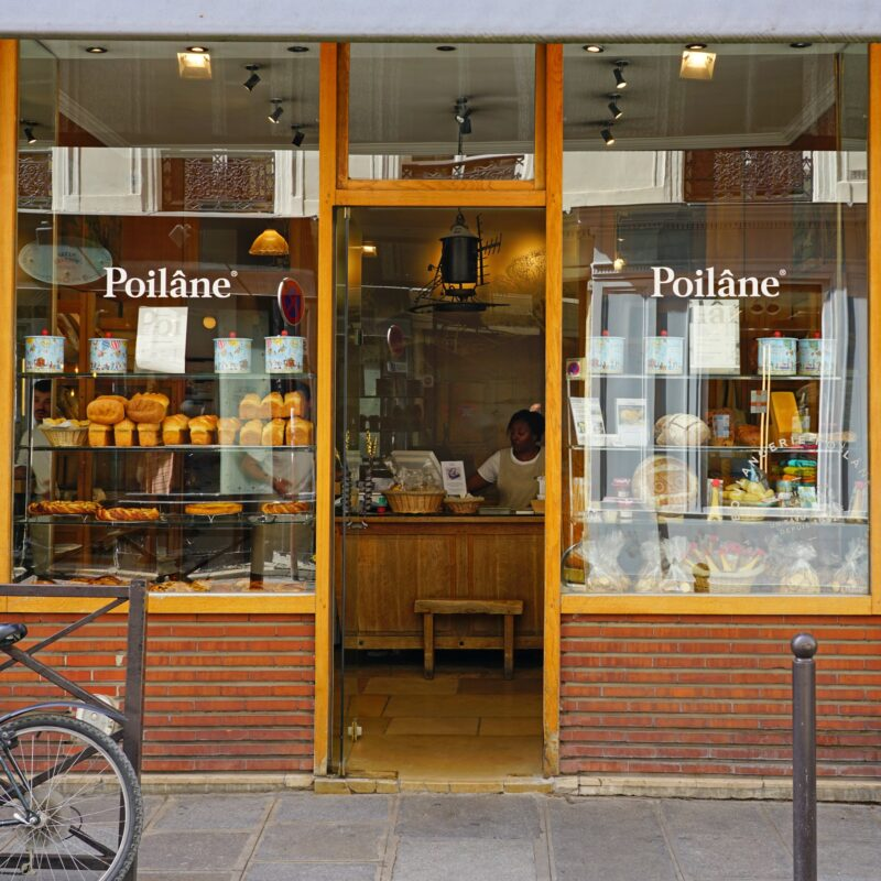 Poilane, one of the most beloved bakeries in Paris, France.
