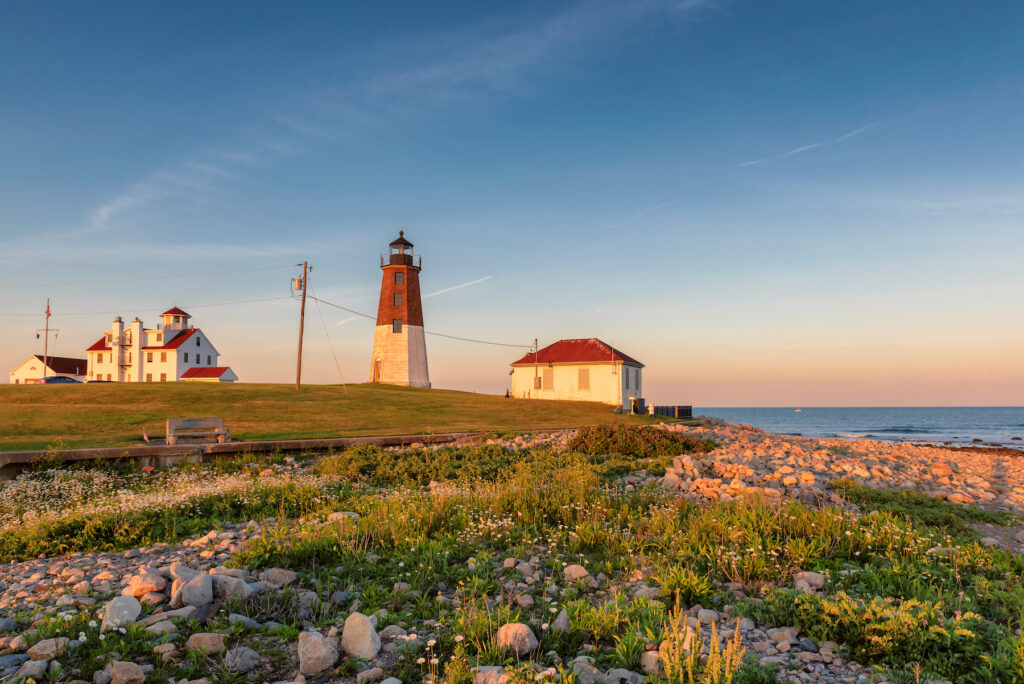 Point Judith Lighthouse in Rhode Island.