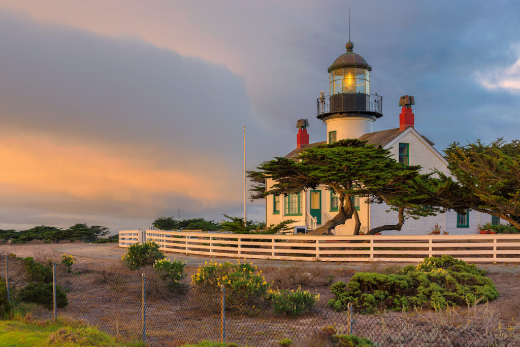Point Pinos Lighthouse in Pacific Grove, California.