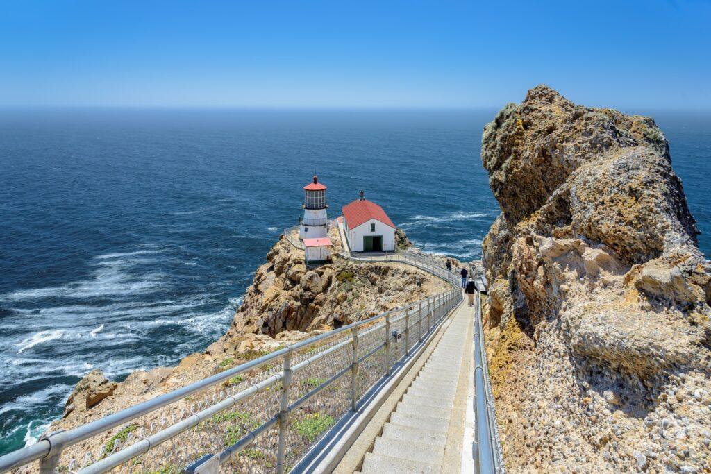 Point Reyes Lighthouse near Stinson Beach.