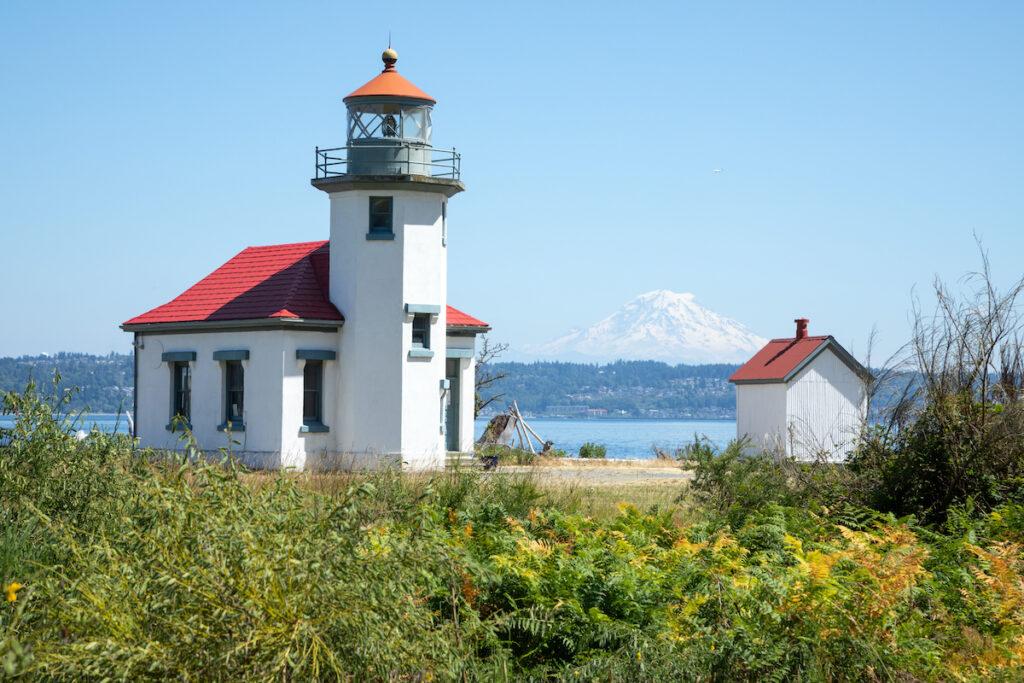 Point Robinson Lighthouse on Vashon Island in Washington.