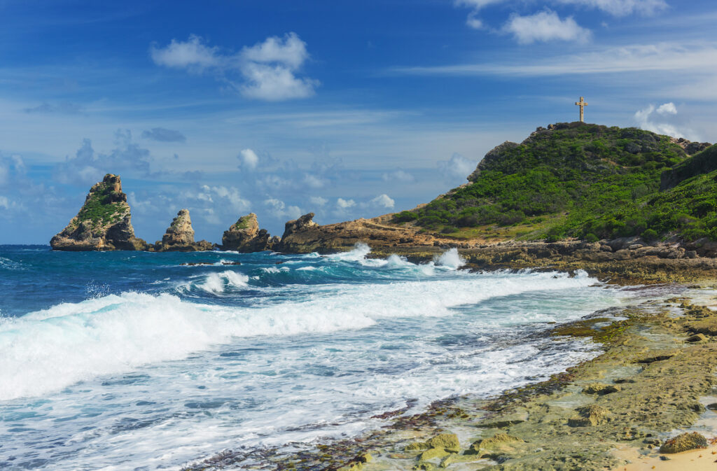 Pointe Des Chateaux in Guadeloupe.
