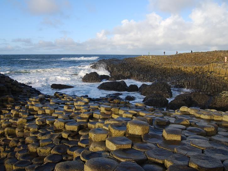 Polygon rocks of Giant's Causeway, Ireland.
