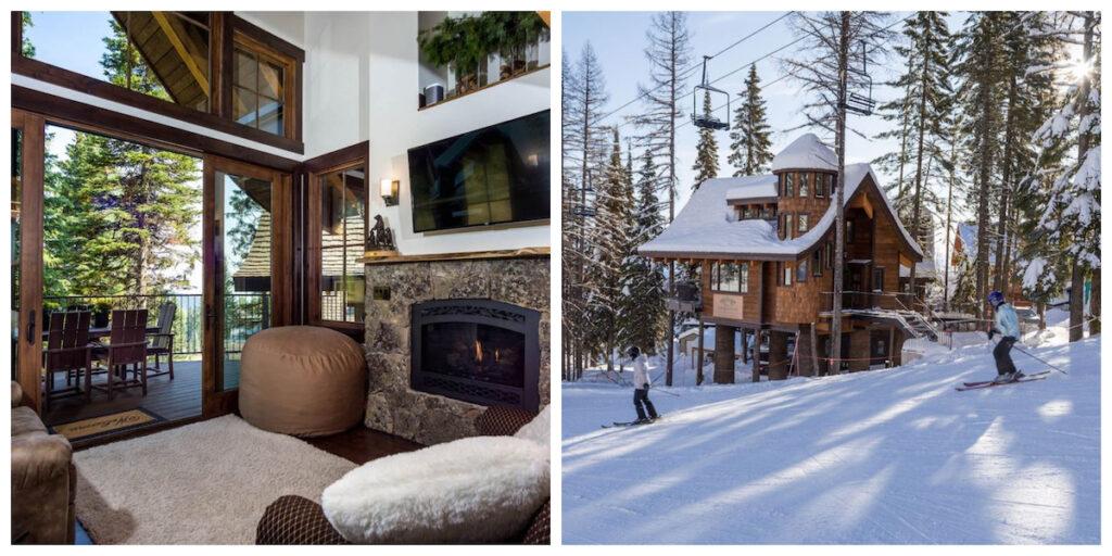 Ponderosa cabin at Snow Bear Chalets in Montana.