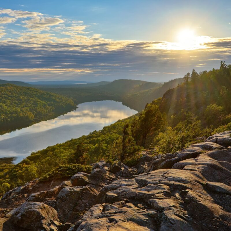 Porcupine Mountains Wilderness State Park in Michigan.