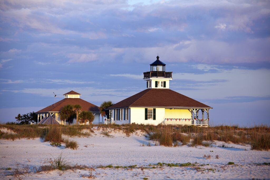 Port Boca Grande Lighthouse on Gasparilla Island.