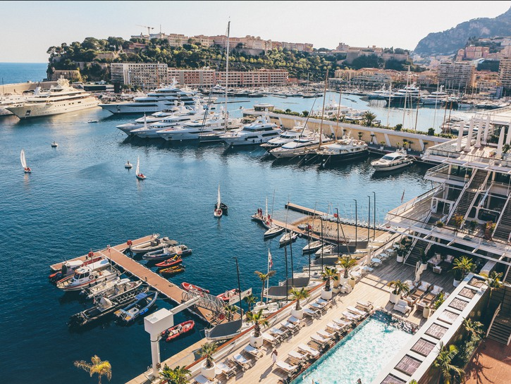 Port Hercule, Monaco, lined with the yachts of the super-rich