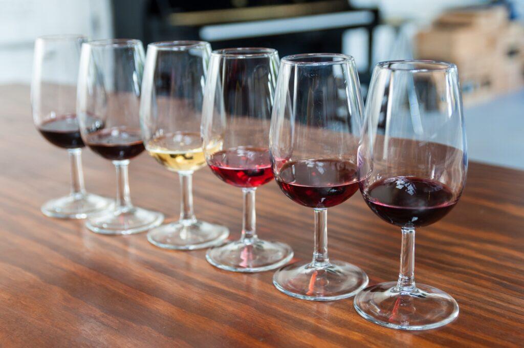 Port wine at a wine tasting.