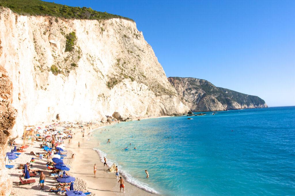 Porto Katsiki Beach in Lefkada, Greece.