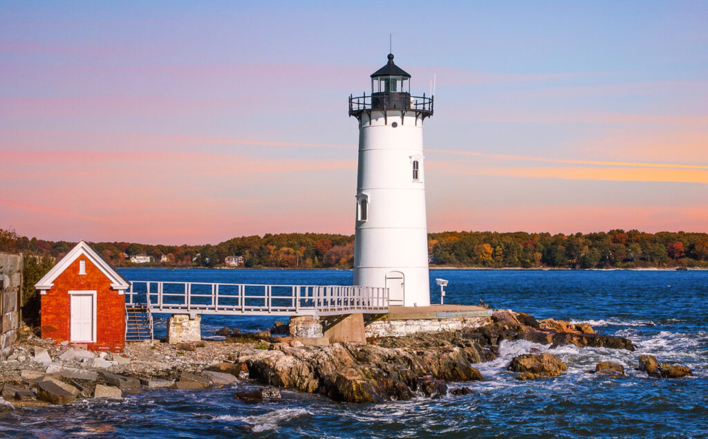 Portsmouth Harbor Lighthouse in New Castle, New Hampshire.