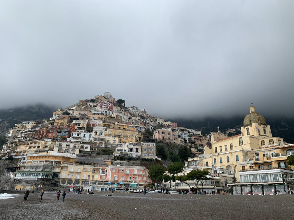 Positano, Italy, during the winter months.