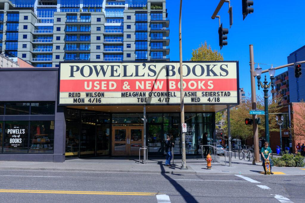 Powell's Books in Portland, Oregon.