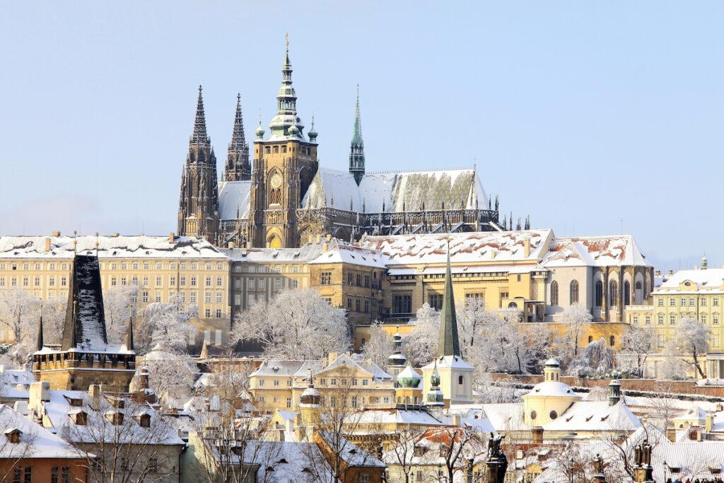 Prague, Czech Republic, during the winter time.
