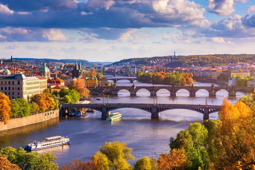 Prague, Czech Republic, during the fall.