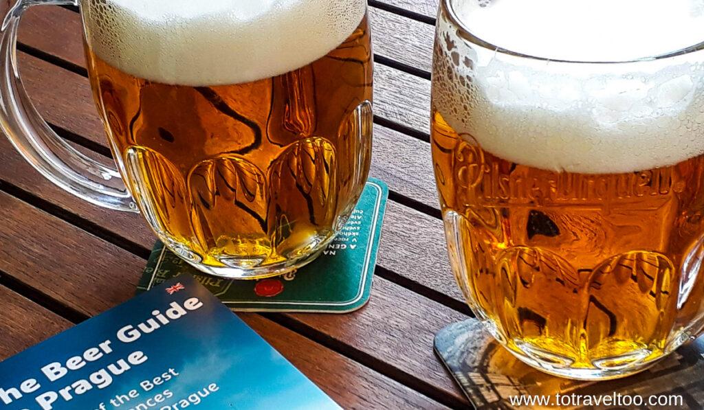 Prague's famous Pilsner Beer.