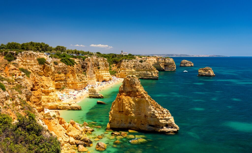 Praia da Marinha in the Algarve region.